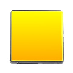 Yellow To Chrome Yellow Gradient Memory Card Reader with Storage (Square)