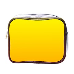 Yellow To Chrome Yellow Gradient Mini Travel Toiletry Bag (One Side)
