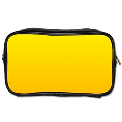Yellow To Chrome Yellow Gradient Travel Toiletry Bag (Two Sides)