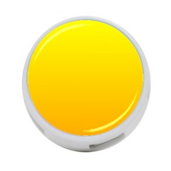 Yellow To Chrome Yellow Gradient 4 Port Usb Hub (one Side)