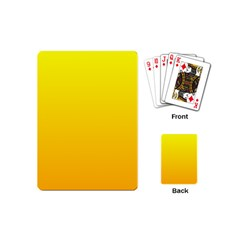 Yellow To Chrome Yellow Gradient Playing Cards (mini)