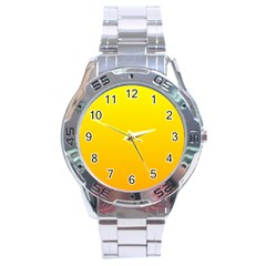 Yellow To Chrome Yellow Gradient Stainless Steel Watch (Men s)