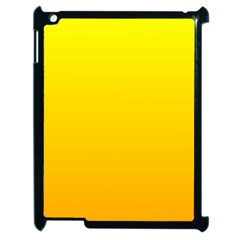 Yellow To Chrome Yellow Gradient Apple iPad 2 Case (Black)