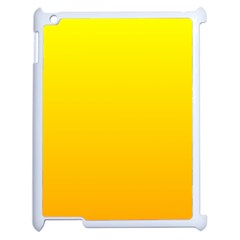 Yellow To Chrome Yellow Gradient Apple Ipad 2 Case (white)