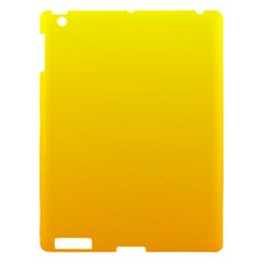 Yellow To Chrome Yellow Gradient Apple iPad 3/4 Hardshell Case