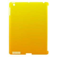 Yellow To Chrome Yellow Gradient Apple iPad 3/4 Hardshell Case (Compatible with Smart Cover)