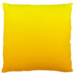 Yellow To Chrome Yellow Gradient Large Cushion Case (one Side)