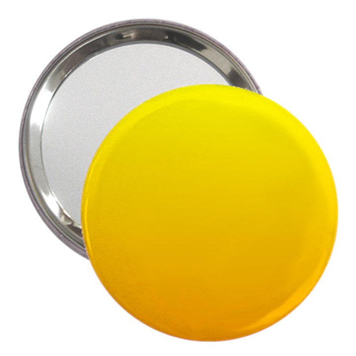 Yellow To Chrome Yellow Gradient 3  Handbag Mirror