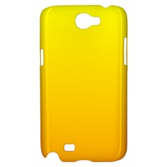 Yellow To Chrome Yellow Gradient Samsung Galaxy Note 2 Hardshell Case