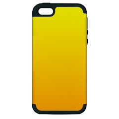 Yellow To Chrome Yellow Gradient Apple iPhone 5 Hardshell Case (PC+Silicone)