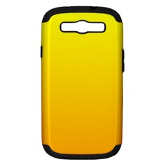Yellow To Chrome Yellow Gradient Samsung Galaxy S Iii Hardshell Case (pc+silicone)