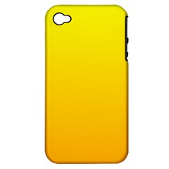 Yellow To Chrome Yellow Gradient Apple Iphone 4/4s Hardshell Case (pc+silicone)