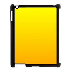 Yellow To Chrome Yellow Gradient Apple Ipad 3/4 Case (black)