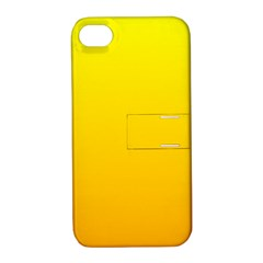 Yellow To Chrome Yellow Gradient Apple iPhone 4/4S Hardshell Case with Stand