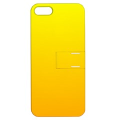 Yellow To Chrome Yellow Gradient Apple Iphone 5 Hardshell Case With Stand