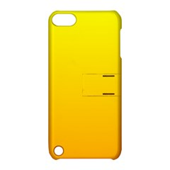 Yellow To Chrome Yellow Gradient Apple iPod Touch 5 Hardshell Case with Stand