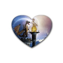 Dragon Land 2 Drink Coasters 4 Pack (heart)