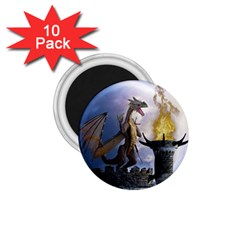 Dragon Land 2 1.75  Button Magnet (10 pack)
