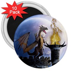Dragon Land 2 3  Button Magnet (10 pack)