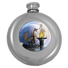 Dragon Land 2 Hip Flask (round)