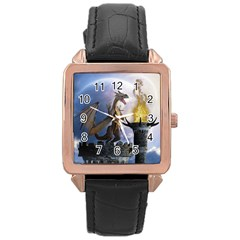Dragon Land 2 Rose Gold Leather Watch