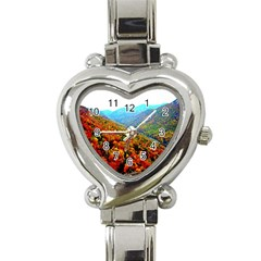 Through The Mountains Heart Italian Charm Watch