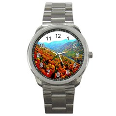Through The Mountains Sport Metal Watch