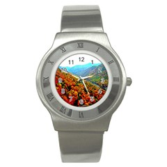 Through The Mountains Stainless Steel Watch (Unisex)