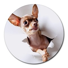 Chihuahua 8  Mouse Pad (Round)