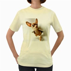 Chihuahua  Womens  T-shirt (Yellow)
