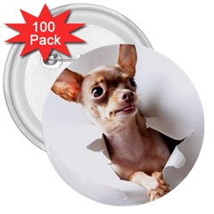 Chihuahua 3  Button (100 Pack)
