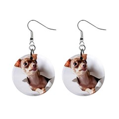 Chihuahua Mini Button Earrings