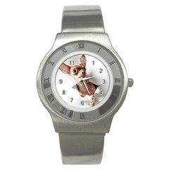 Chihuahua Stainless Steel Watch (Unisex)