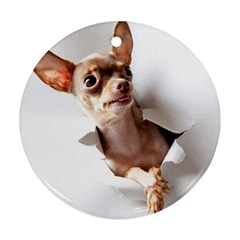 Chihuahua Round Ornament (Two Sides)