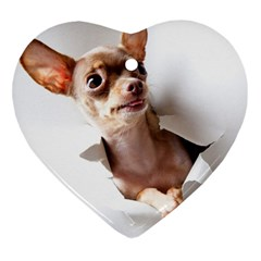 Chihuahua Heart Ornament (Two Sides)
