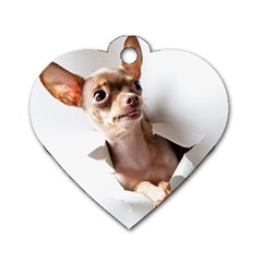 Chihuahua Dog Tag Heart (two Sided)