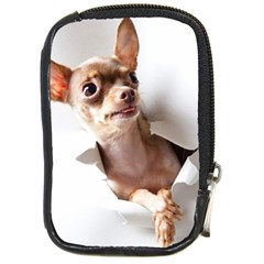 Chihuahua Compact Camera Leather Case