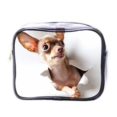 Chihuahua Mini Travel Toiletry Bag (One Side)