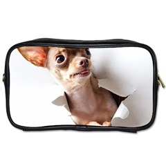 Chihuahua Travel Toiletry Bag (one Side)