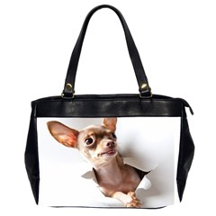 Chihuahua Oversize Office Handbag (Two Sides)