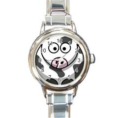 Cow Round Italian Charm Watch