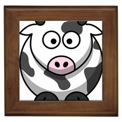 Cow Framed Ceramic Tile