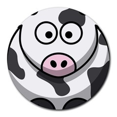 Cow 8  Mouse Pad (Round)