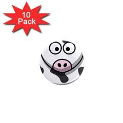 Cow 1  Mini Button Magnet (10 pack)