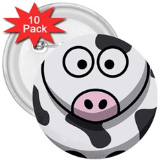 Cow 3  Button (10 pack)