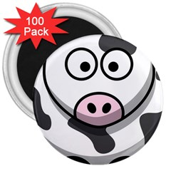 Cow 3  Button Magnet (100 pack)