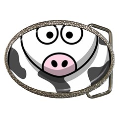 Cow Belt Buckle (Oval)