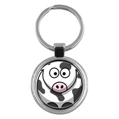 Cow Key Chain (round)