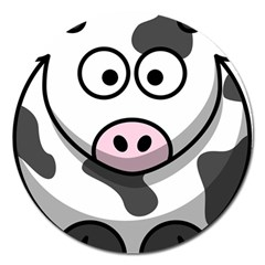 Cow Magnet 5  (Round)