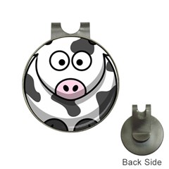 Cow Hat Clip With Golf Ball Marker